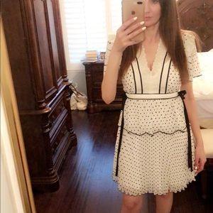Self portrait white polka dot dress